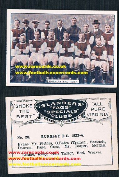 1923 Bucktrout Islanders Burnley